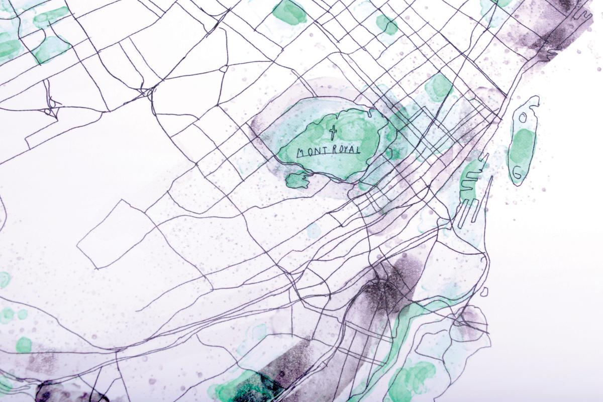 graphic about Printable Map of Montreal named Montréal Map Print Style Montréal