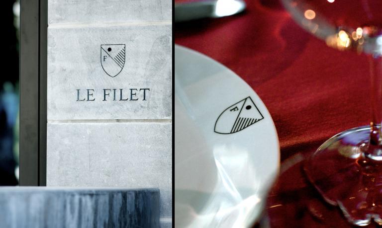 Restaurant Le Filet, logo, Montreal, 2011