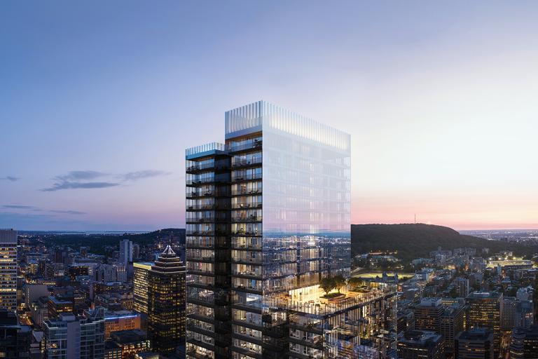 1 Square Phillips, Montréal, en cours de réalisation
