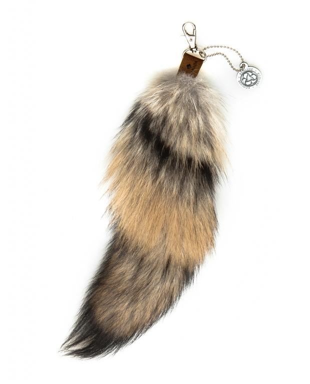 Coyote Fur Keychain