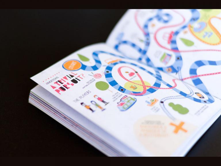 Illustration et contenu éditorial dans le livret du 10e Portfolio Night.