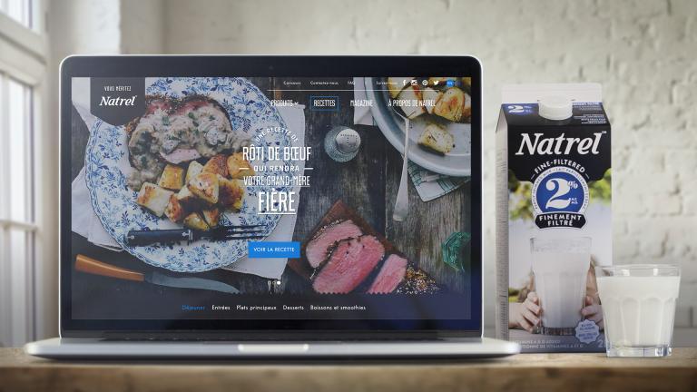 Natrel.ca: Une plateforme de contenu pour Natrel, 2013