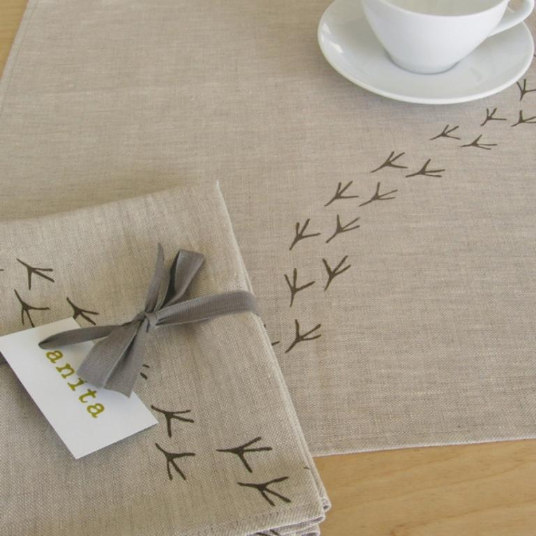 Linen bird napkins, Montreal