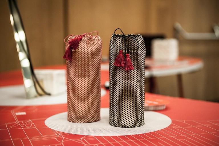 Vase à fleurs tissé sélectionné pour l'exposition World Wide Things Collection à Graz, Montréal, 2018
