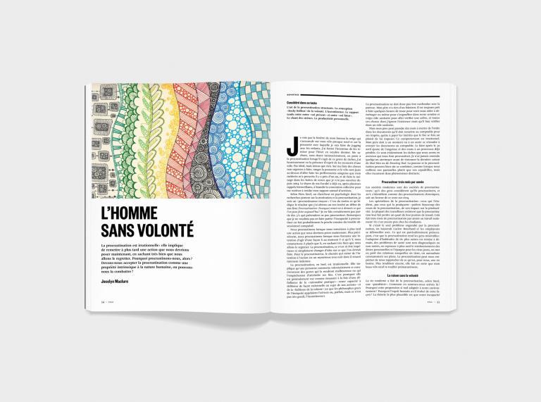 Direction artistique et design du magazine Nouveau Projet, Montréal, 2013