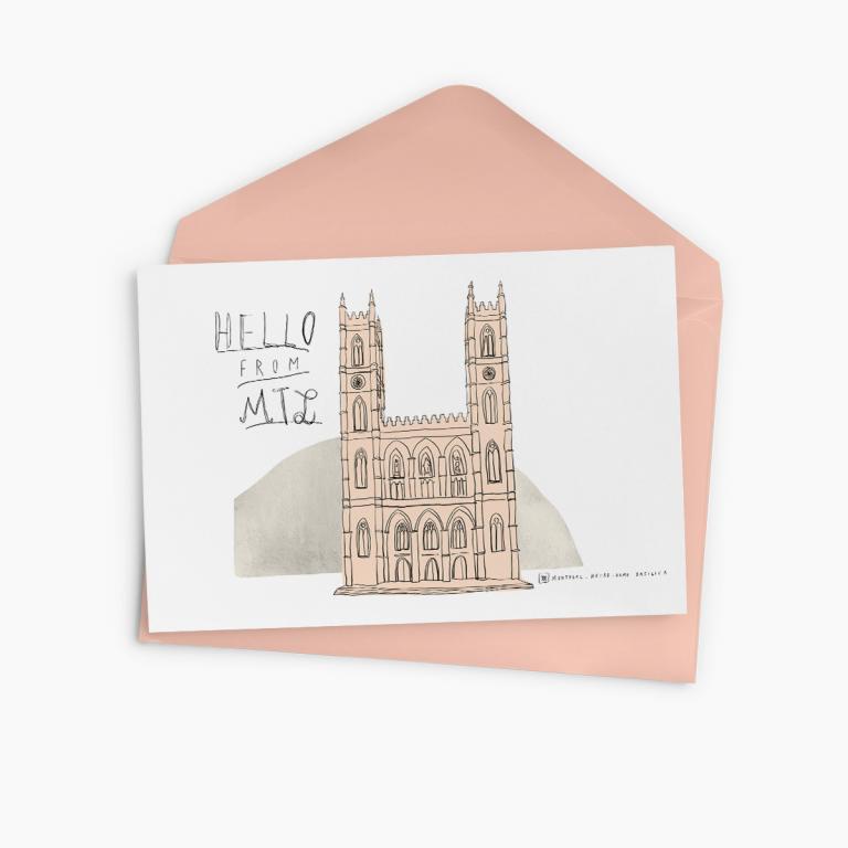 Carte de souhaits — Souvenir de Montréal (Notre-Dame)