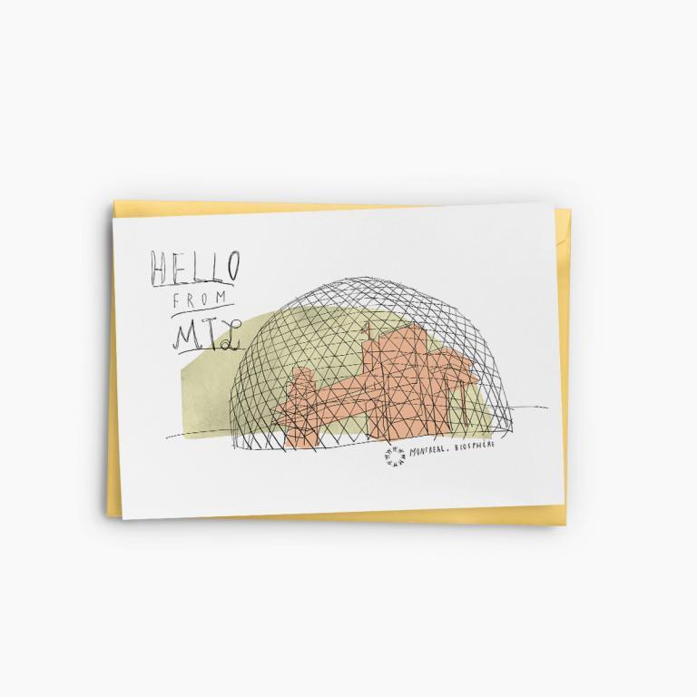 Souvenir de Montréal — Greeting Cards (Biosphere)