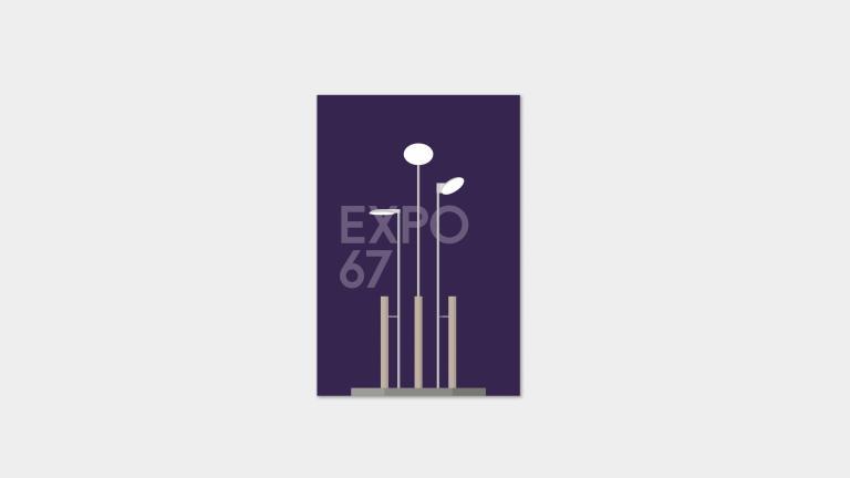 Postcards — Lampadaires de Montréal (Expo 67)