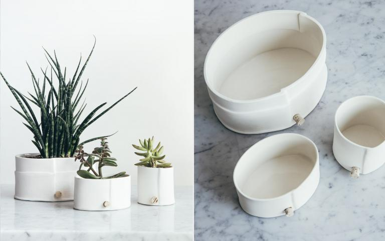 Porcelain planter, Montreal, 2016