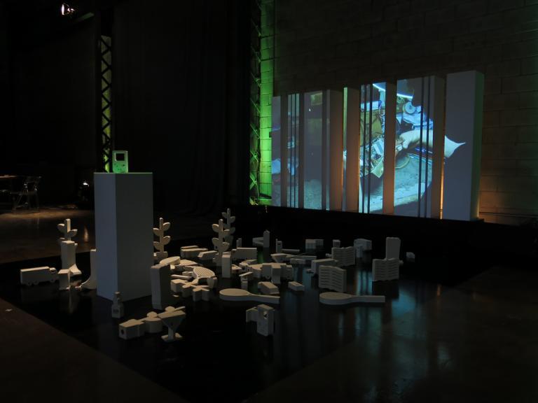 Code Barre, site interactif et installation, Montréal, 2012