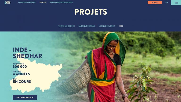 One Drop - développement web, 2015