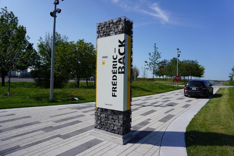 Signalétique, Parc Frédéric-Back, Montréal, 2018