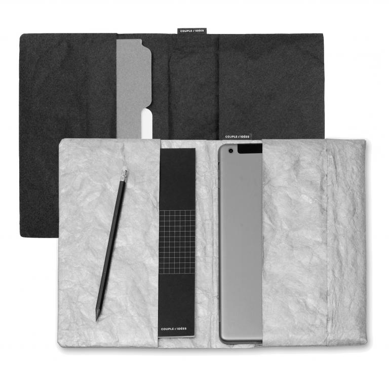 Tyvek tablet and notebook sleeve, Montréal, 2015