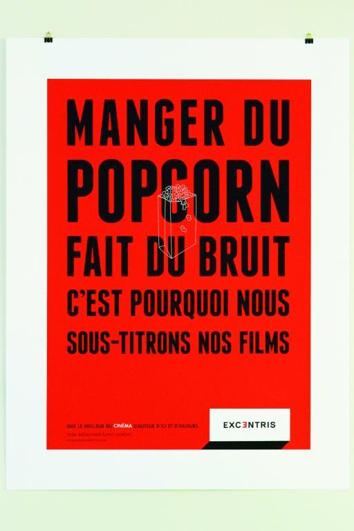 Silkscreen poster for the Excentris, Montreal, 2012