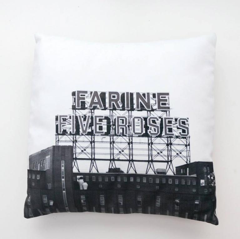 Cushion Covers — Iconique Series in Black & White (Farine Five Roses)