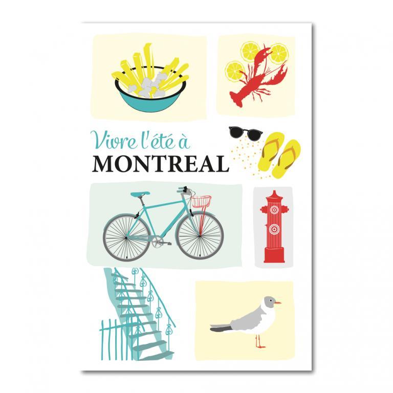 Postcard — Vivre l'été à Montréal