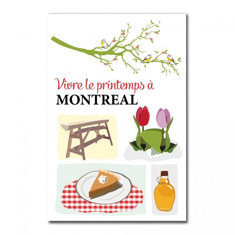 Postcard — Vivre le printemps à Montréal