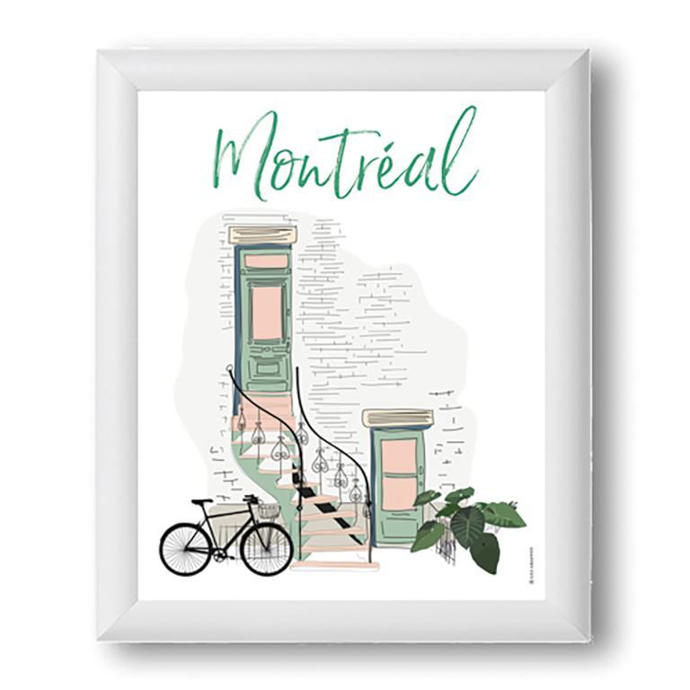 Affiche — Montréal escalier
