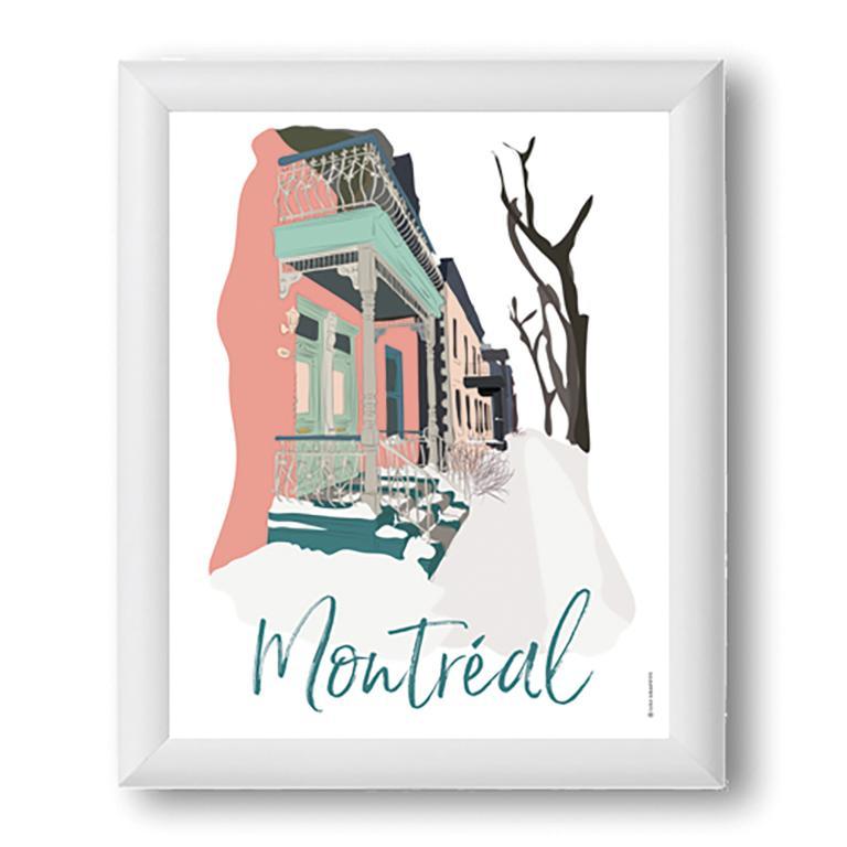 Affiche — Montréal neige