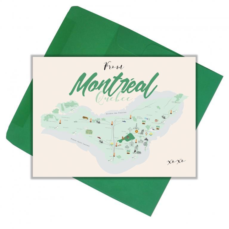 Carte de souhaits — Montréal