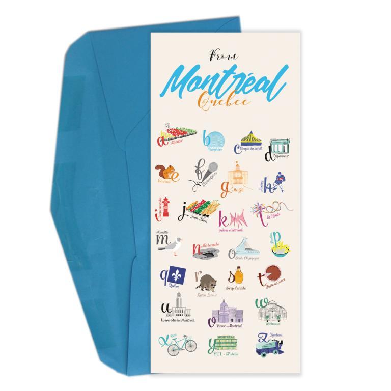 Carte de souhaits — Montréal en 26 lettres