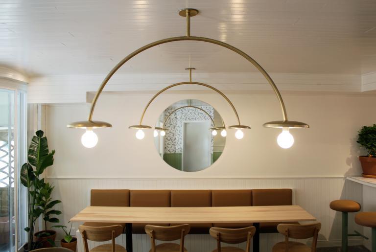 Luminaires Arches, Parma Café Jean-Talon, Montréal, 2019