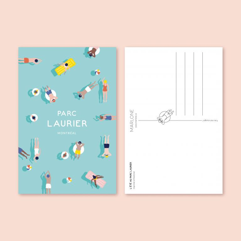 Postcard — Parc Laurier
