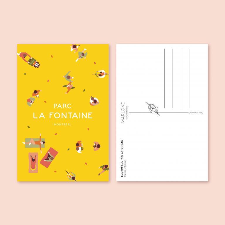 Postcard — Parc La Fontaine
