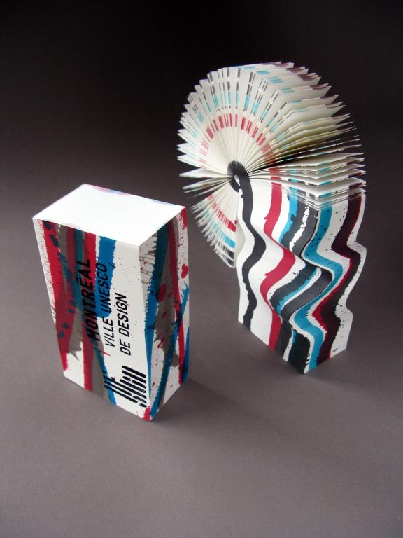 Morph Pad twistable paper sculpture, corporate gift