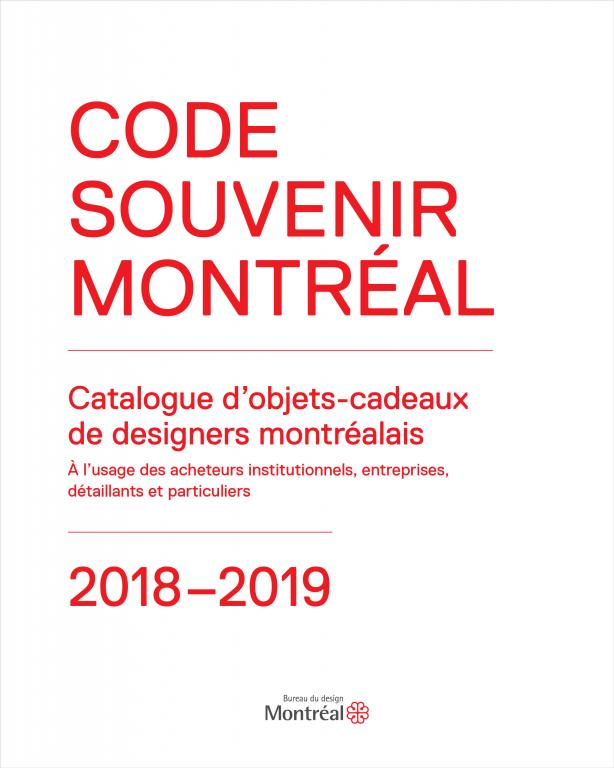 Couverture catalogue CODE SOUVENIR MONTREAL 2018-2019