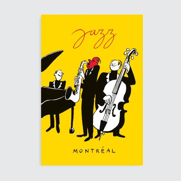 Paperole Images de Montréal Cards and Art Prints — Jazz