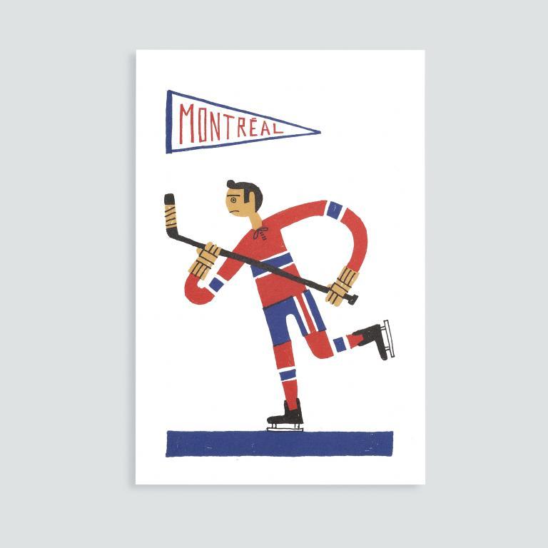Paperole Images de Montréal Cards and Art Prints — Hockey
