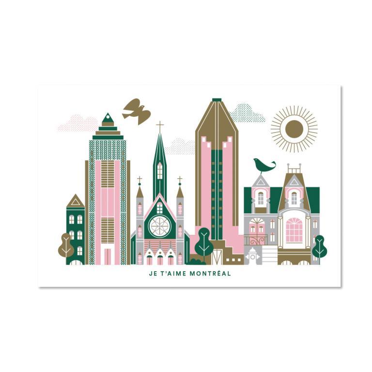 Carte postale — Je t'aime Montréal
