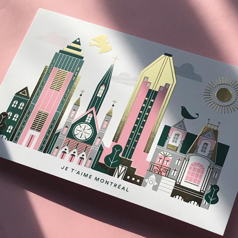 Postcard — Je t'aime Montréal