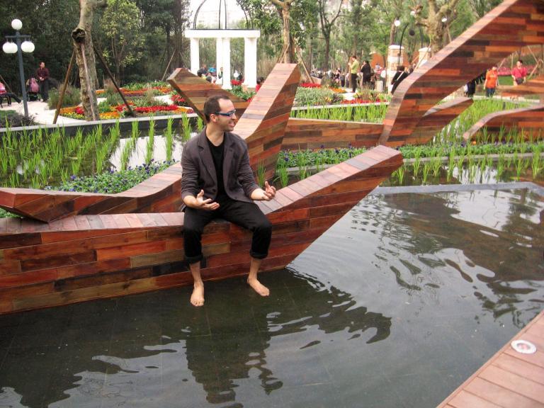 Portage, espace public, Chongqing, Chine, 2011