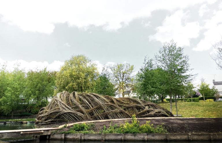 Les Trois Soeurs, Art Festival, City and landscape of Amiens, France, 2017