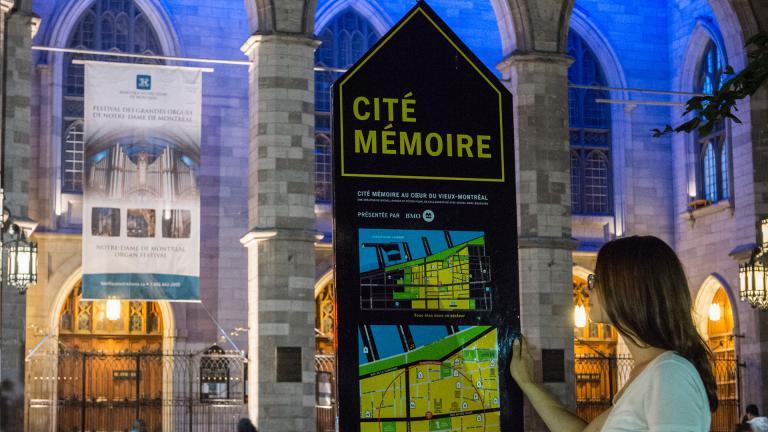 Stratégie d'orientation et signalétique, Cité Mémoire, Montréal, 2015