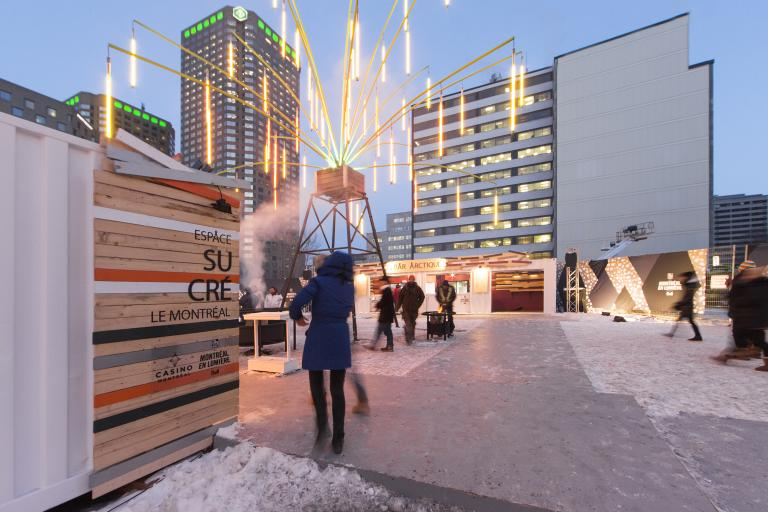 Zone gourmande Casino, Montréal en Lumières, 2015