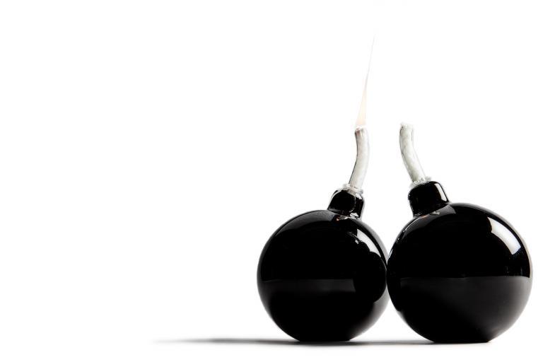 Bomb oil lamp, 2008
