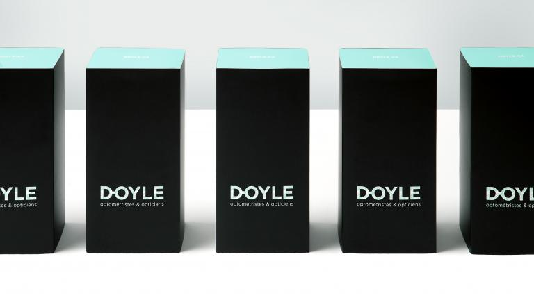 Doyle optométristes et opticiens, packaging, Montréal, 2014