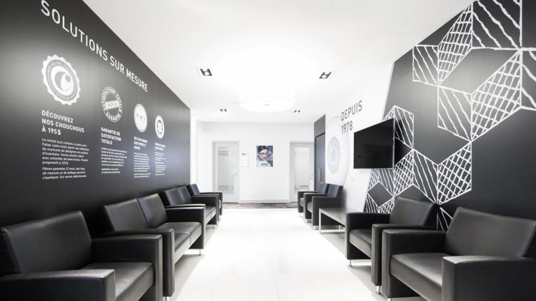 Doyle optométristes et opticiens, design intérieur et signalétique, Montréal, 2014
