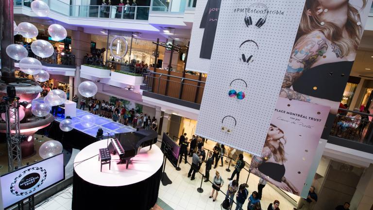 Place Montréal Trust, conception et production évènement promotionnel, Montréal, 2015