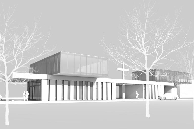 Study for funeral chapel expansion, 2015
