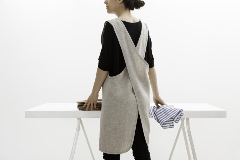 Linen Cross Back Apron, 2014