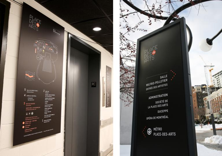Wayfinding and Signage Place des Arts, Montreal, 2014-2015