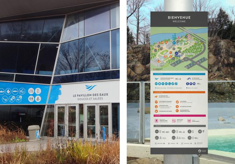 Wayfinding and Signage, Quebec City Aquarium, 2015