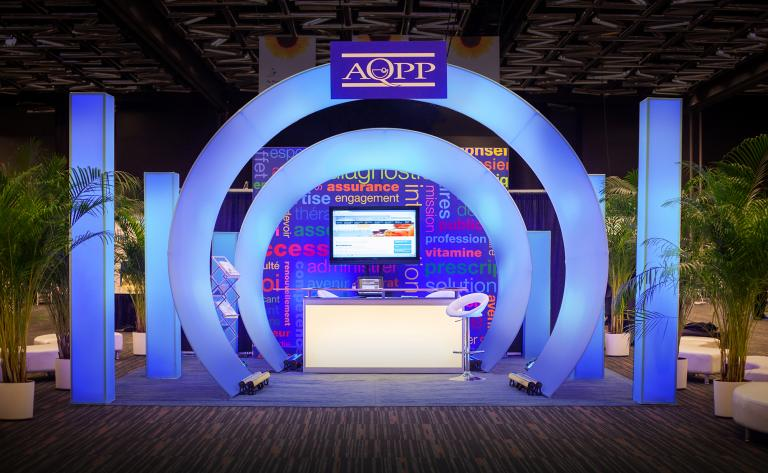 AQPP, reception booth, Montreal, 2013