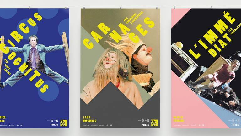 TOHU, season posters, Montreal, 2015-2016