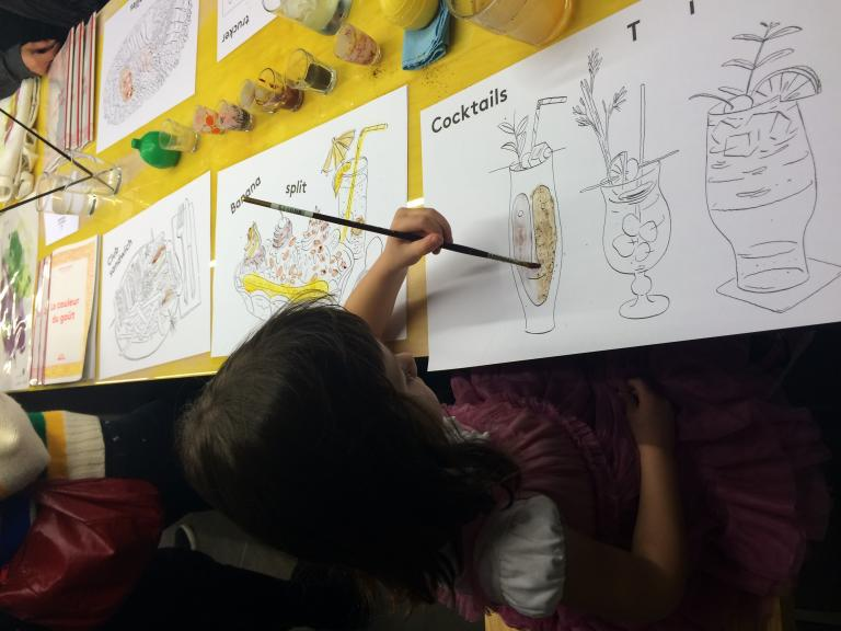 Coloring book and workshop for the In the Mouth event, Montreal, 2014
