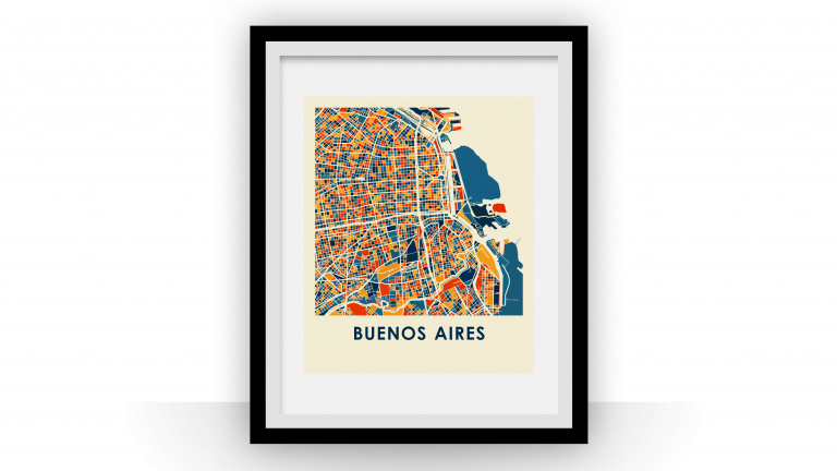 Buenos Aires map print, 2014
